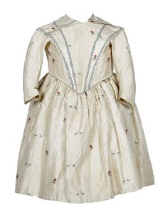 A child's silk dress, circa 1840's.