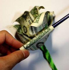 Origami n' Stuff 4 Kids: Crafts: Dollar Bill Rose, for Gradu.- Origami n' Stuff 4 Kids: Crafts: Dollar Bill Rose, for Graduations and Celebrati… Origami n' Stuff 4 Kids: Crafts: Dollar Bill Rose, for Graduations and Celebrations - Origami Money Flowers, Origami Rose, Money Origami, Origami Paper, Origami Tooth, Fun Origami, Origami Bookmark, Money Rose, Money Lei