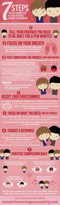 Stay Connected With Your Partner During An Argument - Relationship Advice Infographic