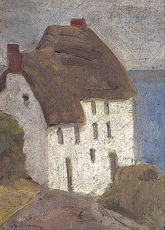 Cornish Cottage- Vanessa Bell. These look very much like the cottages at Church Cove, Landewednack - but, of course, they could be anywhere.