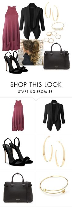 """""""Untitled #579"""" by malrob on Polyvore featuring LE3NO, Giuseppe Zanotti, Lana and Burberry"""