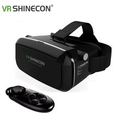 Find More 3D Glasses Information about Virtual Reality VR Shinecon 3D Glasses Oculus Rift Head Mount 3D Movies Games For 3.5 6.0 inch Phone+Bluetooth Remote Gamepad,High Quality glasses disposable,China glasses red Suppliers, Cheap glasses picture from GUANGZHOU CRECASE FLAGSHIP STORE on Aliexpress.com