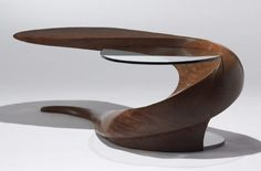 1000 Images About Sculpted Furniture On Pinterest Michael O 39 Keefe Walnut Coffee Table And