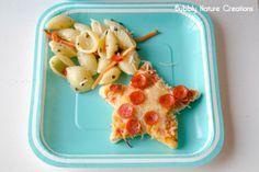 Mermaid party food: Starfish pizza and seashell salad