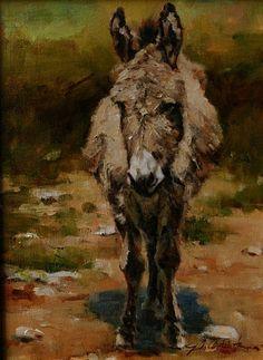 """John Austin Hanna's painting - """"Descansar"""" - Oil on Canvas - 12 x 9."""