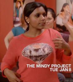 Mindy's diamond/jewel sweatshirt on The Mindy Project - by #Wildfox