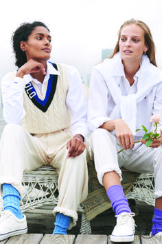 Fashion Week New York Spring/Summer 2019 look 27 from the Polo Ralph Lauren collection womenswear Super Rich Kids, Estilo Preppy, Ivy League Style, Le Tennis, Ivy Style, Tennis Fashion, Fashion Show, Fashion Outfits, Old Money