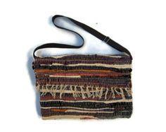 Boho Messenger Bag in Blue Tones. Kilim Bag. Crossbody by maslinda