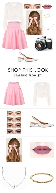 """""""Untitled #38"""" by freckled-skyline ❤ liked on Polyvore featuring Glamorous, Mansur Gavriel, Francesca's, Minnie Grace and Luna Skye"""