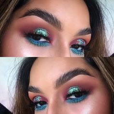 "610 Likes, 37 Comments - Savannah Marie ✨ (@vmariexoxo_) on Instagram: ""Pop of color under the eyes are always nice! This is my favorite blue glitter  I love blue, if you…"""