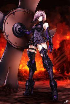yande.re 346059 armor fate_grand_order heels shielder_(fate_grand_order) thighhighs yusuki_(fukumen)