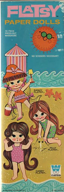 Flatsy Paper Dolls - Sandy, Filly, and Candy