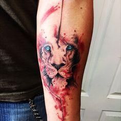 EliasAguilarRodriguez | #trashpolka #lion #mexicantattoo #sleeve | Tattoodo