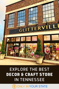 Welcome to Glitterville, the best craft and décor store in Tennessee. It's beautiful, fun, festive, and full of glitter. Colorful and perfect for holiday gifts, it's a can't-miss! Vacation Places, Vacation Destinations, Places Around The World, Around The Worlds, Best Bucket List, Sore Eyes, Hidden Beach, Christmas Cactus, Usa Travel