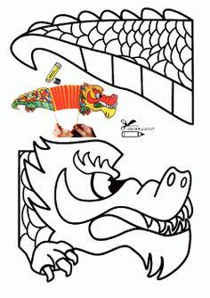 Ejderha Kalıbı. Dragon printables. Molde del dragón. дракон.