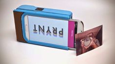 If you want to turn your smartphone into a Polaroid, take The Prynt Case  which is for Android and...