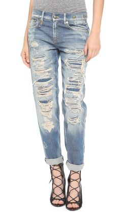 I liked these jeans until I saw the price, ridiculous! R13 Shredded Boyfriend Jeans