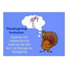 Thanksgiving Invitation with turkey