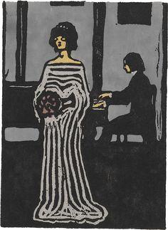 Collection Online | Vasily Kandinsky. Singer (Sängerin). 1903 - Guggenheim Museum