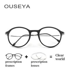 c7759ff30d Titanium Prescription Glasses Women Round With Diopter Fashion Clear  Optical Myopia Hyperopia Round Glasses For Sight