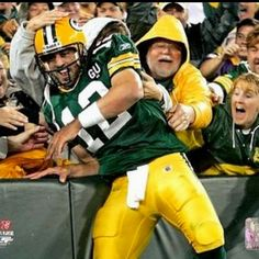 On the receiving end of a Lambeau Leap at Lambeau Field- Someday