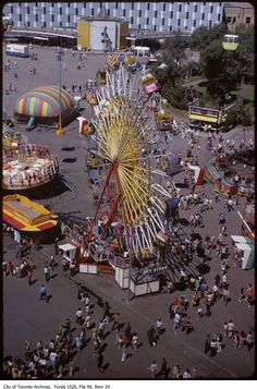What the CNE looked like in the Toronto Ontario Canada, Toronto City, Amusement Park Rides, Carnival Rides, North York, Canadian History, Roller Coaster, Landscape Photos, Time Travel