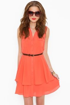 Love the dress... i have a thing for coral