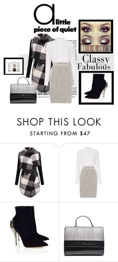 """""""working girl"""" by ina-kis ❤ liked on Polyvore featuring HUGO, Paul Andrew, Accessorize, black, Silver and grey"""
