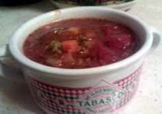 my mom's hambuger soup Recipe - Are you ready to cook? Let's try to make my mom's hambuger soup in your home! Meat Recipes, Crockpot Recipes, Dinner Recipes, Cooking Recipes, Turkey Recipes, Dinner Ideas, Hambuger Soup, Peruvian Dishes, Hamburger Dishes