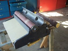 A Different Drum Sander - For your lathe or ShopSmith - by shipwright @ LumberJocks.com ~ woodworking community