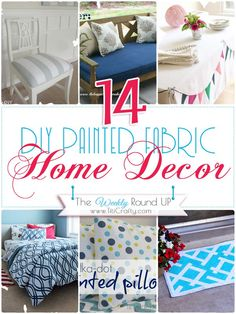 14 DIY Painted Fabric Home Decor {The Weekly Round up}