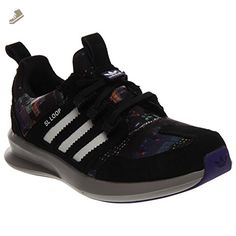 best service 9d713 1e253 adidas Originals Women s SL Loop Runner Sneaker, Core Black Running White Collegiate  Purple
