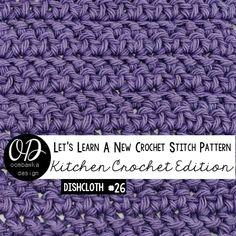 This is Stitch 16! Try the herringbone stitch today :) Herringbone Stitch Dishcloth   Crochet Tutorial and Free Pattern   LLANCS • Oombawka Design Crochet - https://oombawkadesigncrochet.com/2016/02/herringbone-stitch-dishcloth-free-pattern-tutorial.html