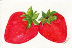Hey, I found this really awesome Etsy listing at https://www.etsy.com/listing/101555008/strawberries-watercolors-paintings