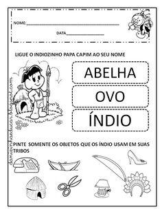 atividades sobre educação infantil e fundamental Indigenous Tribes, Education, Veronica, Alice, 1, History Activities, Letter E Activities, Index Cards, Indian People