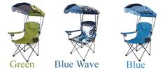 Portable Outdoor Chair with sun and weather canopy - comfortable outdoor sitting for camp, sport & travel.
