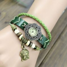 New Retro Vintage Creative Leather Bracelet Watch for big sale! ALL THE SAME COLOURS AGAINN LOOK GREAT