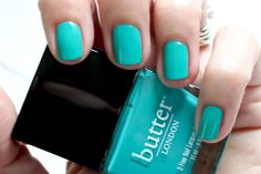 Butter London - My Favs For Summer http://bit.ly/1nNOPTg blue aqua teal cream nail polish