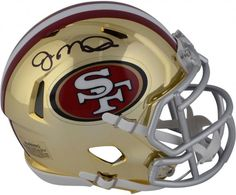 e9a5cb0a8 Joe Montana San Francisco 49ers Autographed Riddell Chrome Alternate Speed Mini  Helmet
