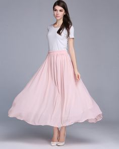 ANY SIZE chiffon expansion skirt plus size skirt plus size clothing summer skirt summer clothing