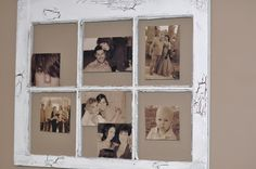 Old wood window photo frame
