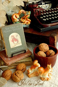 vintage.autumn - Loved reading the Beatrix Potter Tales at the Library, when I was a little girl. They were such cute little books. Read them to my children too.