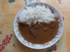 Játrová omáčka s rýží Stew, Food And Drink, Pudding, Treats, Desserts, Red Peppers, Sweet Like Candy, Tailgate Desserts, Goodies