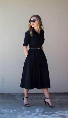 Ein schwarzes Kleid lässt euch schlanker aussehen
