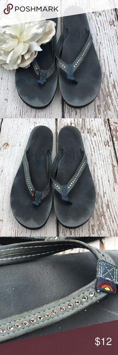 💕SALE💕Blue Rainbow Diamond Embellished Sandals Fabulous 💕Blue Rainbow Diamond Embellished Sandals Rainbow Shoes Sandals
