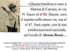 AUTOSTIMA - Giancarlo Fornei a Marina di Carrara - Le Delizie di Alessia…
