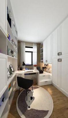 Small Room Design Bedroom, Small House Interior Design, Bedroom Furniture Design, Home Room Design, Room Ideas Bedroom, Diy Furniture, Space Saving Bedroom, Small Bedroom Storage, Bedroom Sofa