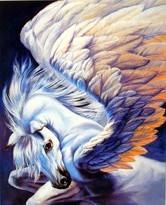 Absolutely stunning! Brighten up any room with this Mythical Pegasus wings Unicorn art print wall poster. This beautiful wall poster goes well in any room and brings elegant touch to your home. The unicorn was the symbol of chastity and was sought after by king's who wanted to display it as a symbol of power.This Mythical Pegasus Wings Unicorn Sue Dawe Fantasy Art Print Poster will instantly create a magical focal point in your room.