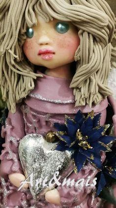 Serie angeli Art&mais: Amdir angelo dell'amicizia/ https://it.pinterest.com/pin/783978247603249356/ Porcelana fria/ Das/ Bomboniere/Articoli regalo/Cold porcelain/Bamboline in pasta di mais/Polymer clay/Natale/Christmas/Pasta di mais/Oggetti fai da te/doll in pasta di mais/
