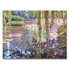 David Lloyd Glover 'Homage to Monet' Canvas Art | Overstock.com Shopping - Top Rated Trademark Fine Art Canvas